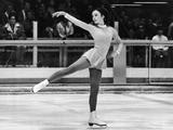 Grenoble 1968: American figure skater Peggy Fleming performs her routine and wins the gold medal.