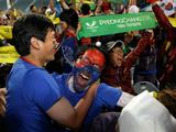 South Koreans celebrate being selected as 2018 Winter Olympic host city at Alpensia Resort in Pyeongchang, South Korea. Pyeongchang finally won the Winter Olympic host race after being beaten by Vancouver for 2010 and Sochi for 2014.