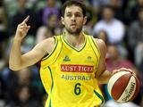 Rhys Martin calls a play during the international friendly match between the Australian Boomers and China in Perth.