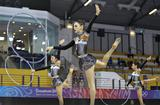 Team Australia competes during the Group All-around Qualification match of Rhythmic Gymnastics