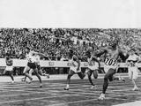 Tokyo 1964: No 702 Robert Hayes of the USA winning the final of the men's 100m to set up a new Olympic record of 10.0. Enrique Figuerola Camue of Cuba (80) was second and Harry Jerome (56) of Canada third.