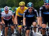 Bradley Wiggins (2L) of Great Britian riding for Sky Procycling in the race leader's yellow jersey climbs of the Col du Grand Columbier under escort of his teammates Edvald Boasson Hagan (L) of Norway, Michael Rogers (2R) and Berhard Eisel (R) of Austria during stage ten of the 2012 Tour de France from Macon to Bellegarde-Sur-Valserine on July 11, 2012 in La Sapette, France.
