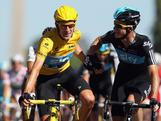 Bradley Wiggins of Great Britain and SKY Procycling (L) is congratulated by teammate Michael Rogers after winning the general classification during the twentieth and final stage of the 2012 Tour de France, from Rambouillet to the Champs-Elysees on July 22, 2012 in Paris, France.