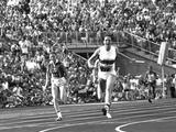 Munich 1972: In front of a home crowd, Heide Rosendahl of West Germany anchors her team to win the gold in the women's 4x100m relay.