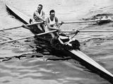 Berlin 1936: The Great British team win the double sculls with Jack Beresford and L Southwood.