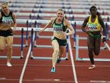 After missing out on the Gold to USA's Dawn Harper at the 2008 Beijing Olympic Games, Sally is on track to go one better at the London 2012 Olympic Games after claiming Gold in the 100m Hurdles in Delhi.