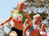 Sally Pearson (QAS) wins the Womens 100 Metres Open during the 2011 Briggs Classic. Sally won with a time of 11.57secs