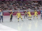Men's short track skating 5000m relay semi-final