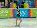 Chantelle Kerry at the start of her short program- her first event at the Innsbruck 2012 Winter Youth Olympic Games.