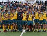 Australia celebrate winning the Champions Trophy Final match between Australia and Spain at the 2011 Men's Champions Trophy in Auckland, New Zealand.