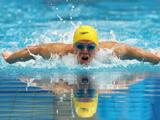 Travis Nederpelt races in the Final of the Men's 200 Metre Butterfly during the 2011 Australian Swimming Championships at Sydney Olympic Park Aquatic Centre