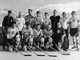 St. Moritz 1948: The USA ice hockey team sanctioned by the US Olympic Committee. They were one of two ice hockey teams sent by the US to the 1948 Winter Olympics due to a disagreement between the American Olympic Committee and the Swiss Olympic Committee. This team, nicknamed the Brundage Team after US Olympic Committee president Avery Brundage, marched in the Opening Ceremonies but did not compete in the games. The Swiss allowed the team sanctioned by the American Hockey Association to compete, but after the International Olympic Committee threatened to disqualify the entire event, the AHA team was removed from the final standings.