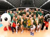 The Mens Indoor Volleyball Team defeated China 25-12, 25-20 and 25-20 at the FIVB Men's Olympic Qualification Tournament in Tokyo, Japan to qualify a place at the London 2012 Olympic Games.