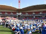 Thousands of Sydney 2000 Olympic Games volunteers gathered at Sydney Olympic Park to celebrate the 10th Anniversary on 15 September 2010.