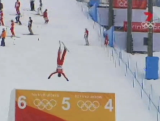 Women's freestyle skiing aerials feature