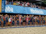 The women brave a chilly start line at the first World Cup Race in Mooloolaba