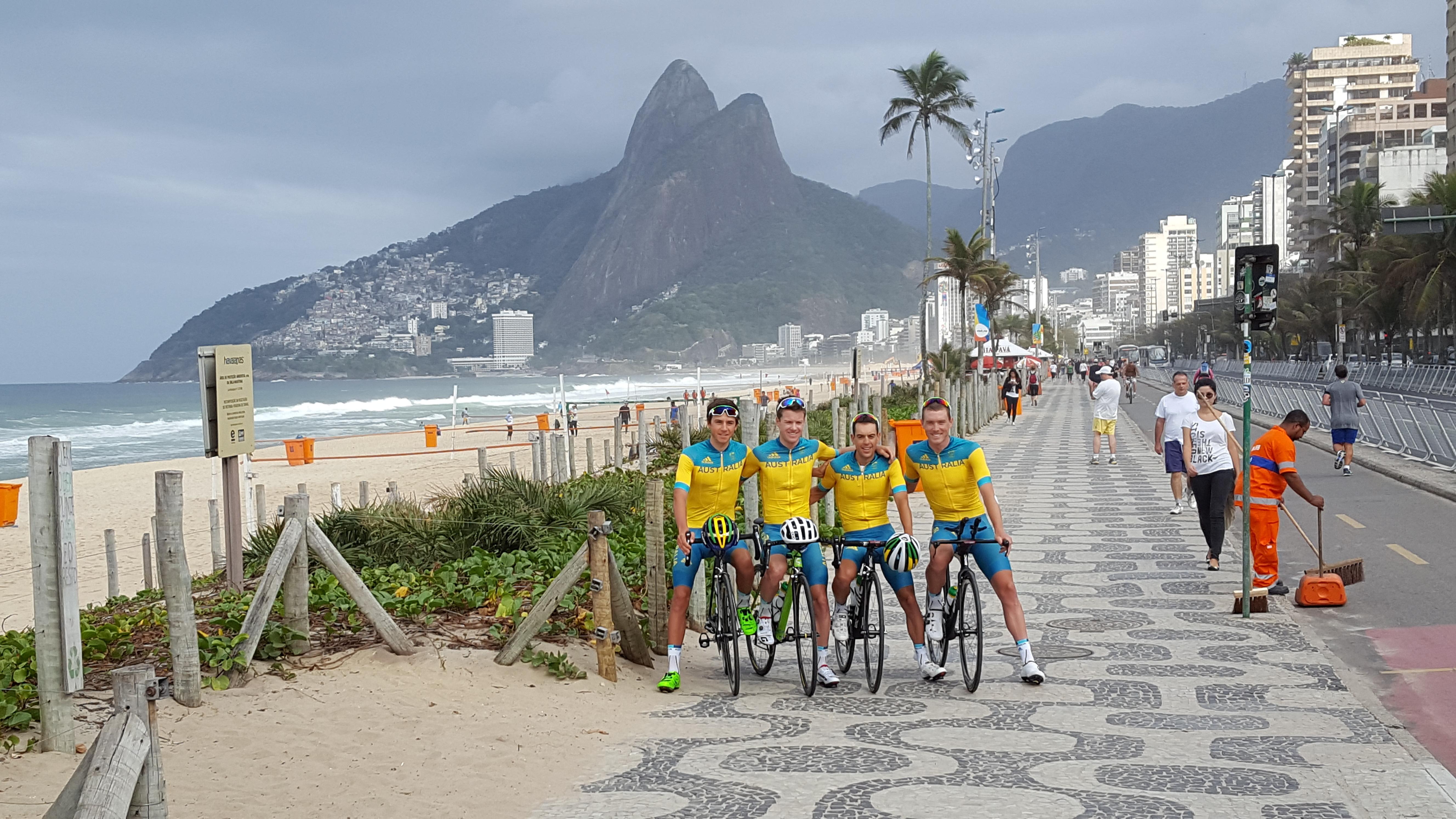 Aussies preparing for unique men s road race aus team rio 2016