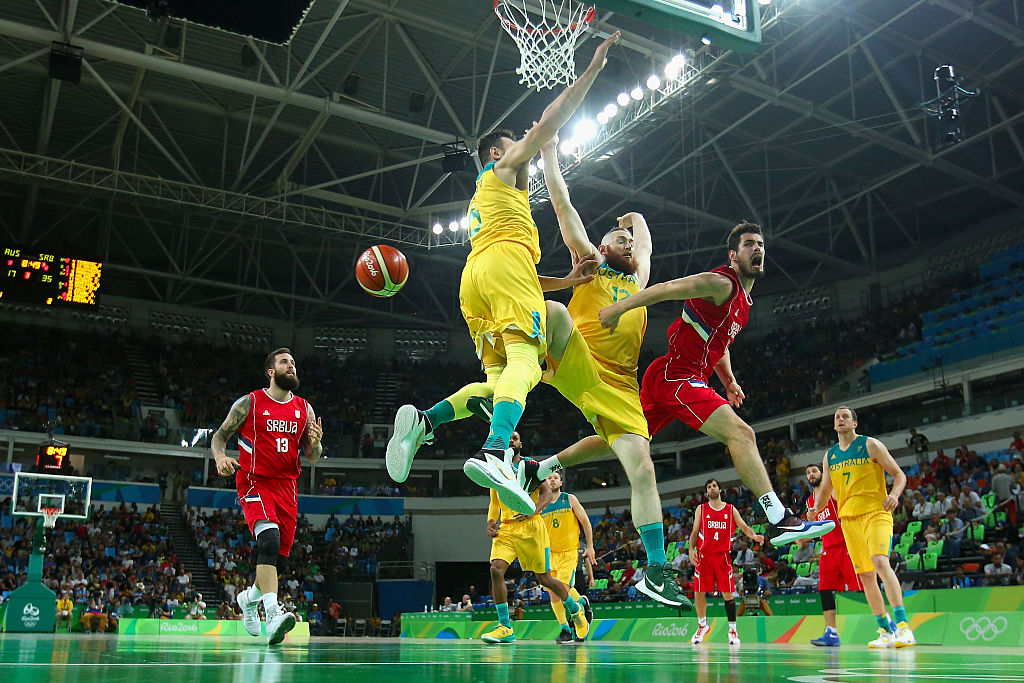 Australia vs Lithuania men's basketball at Rio Olympics